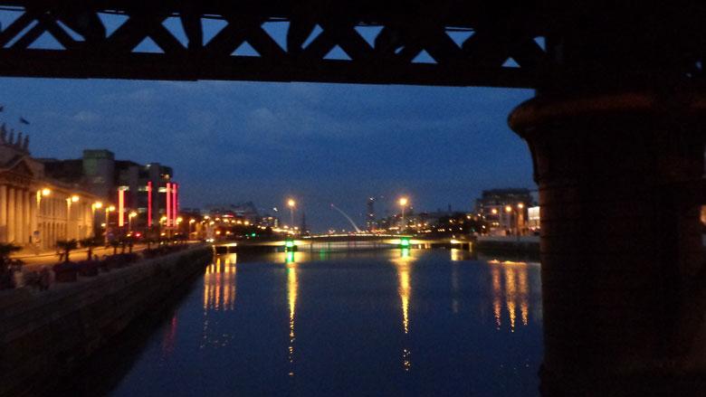 Foto: Dublin bei Nacht.