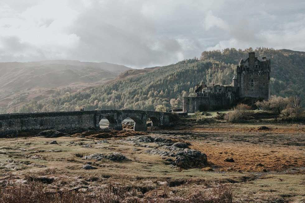 Foto: mittelalterliche Burg in Schottland