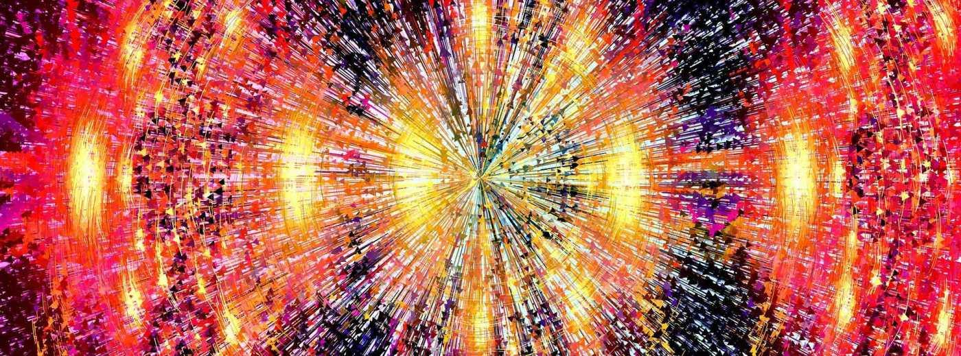 Foto: abstraktes Muster, Farbexplosion
